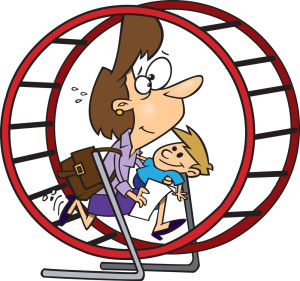 Hamster Wheel with Mom and Child